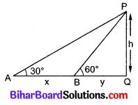 Bihar Board Class 10 Maths Solutions Chapter 9 त्रिकोणमिति के कुछ अनुप्रयोग Additional Questions LAQ 10