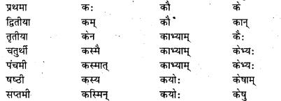 Bihar Board Class 7 Sanskrit व्याकरण शब्दरूपाणि 17