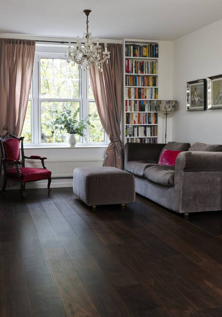 dark wooden floor living room boarding house bad homburg junckers solid black oak biid a which can be sanded and re finished