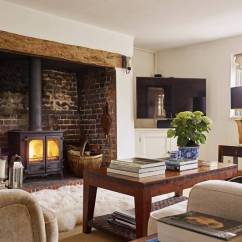 Cosy Living Room With Log Burner Small Open Plan Kitchen Ideas New Forest Cottage Biid Suzy Dallas Ltd