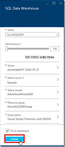 Install Azure SQL Data Warehouse 09