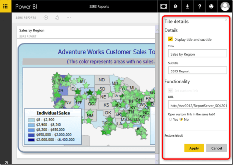 Edit Power BI Tile 01