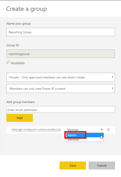 Add users to new Workspace