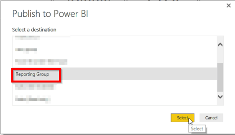 Pubish Power BI Desktop Report to Works
