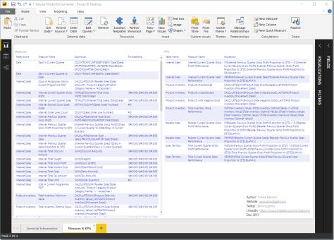 SSAS Tabular Model Documenter