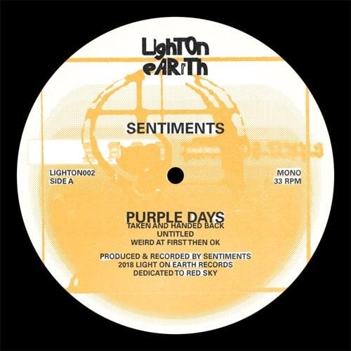 Sentiments - Purple Days - LIGHTON002 - LIGHT ON EARTH