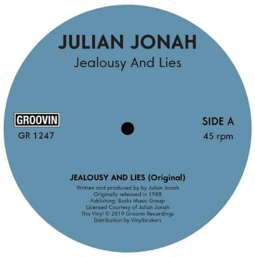 Julian Jonah - Jealousy & Lies - GR1247 - GROOVIN RECORDINGS