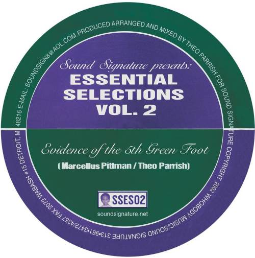 Marsellus Pittman/Theo Parrish - Essential Selections Vol. 2 - SSES2 - SOUND SIGNATURE