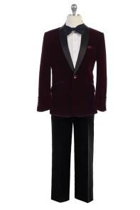 Wholesale burgundy indigo suit for resale velvet