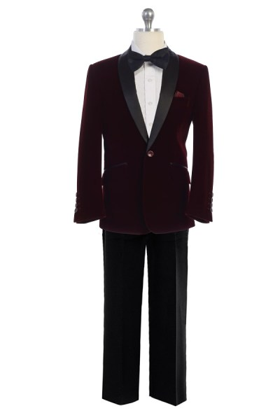 Wholesale burgundy indigo suit for resale velvet