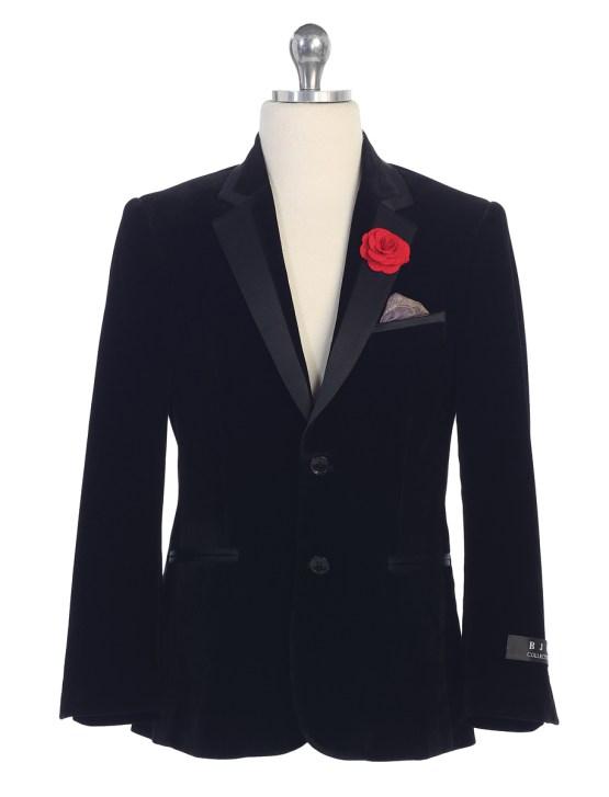 boys black velvet blazer bj4005-777-mayoreo-saco-de-niños-reventa-