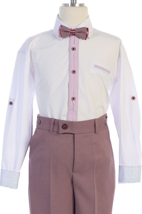 mayoreo traje de niño en color mauve, plum.