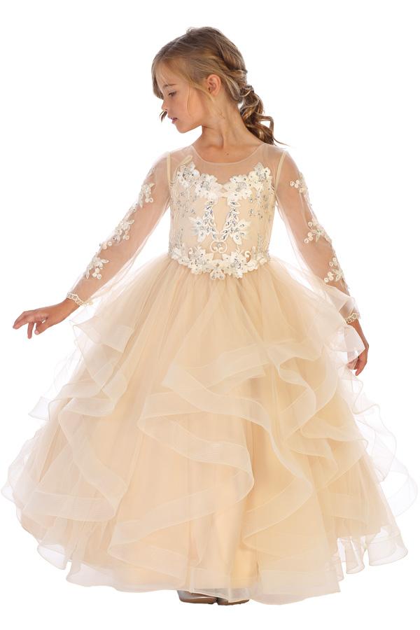 8062 Bijan Kids long sleeve dress