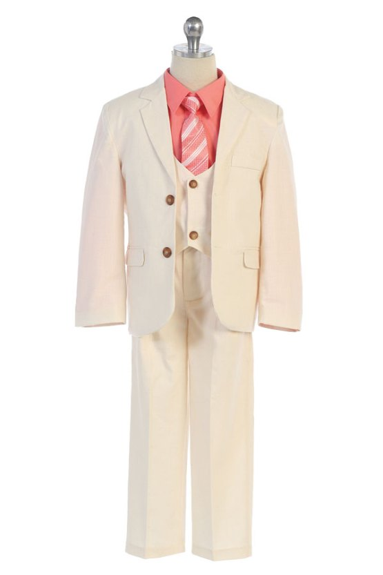 Linen three piece suit