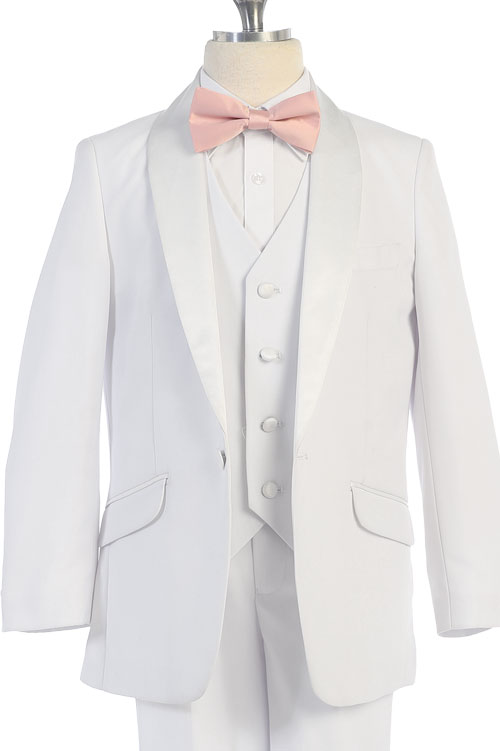 y4026 white suit with satin lapel