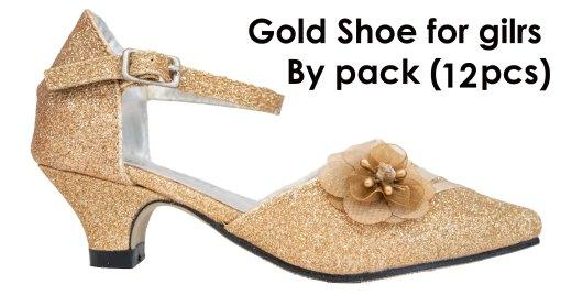 Bijan Kids Wholesale gold shoes