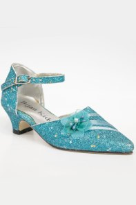 Wholesale turquoise glitter shoes