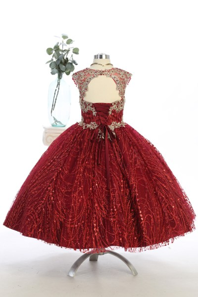 Beautiful glitter and sequins dress, vestido presentasion
