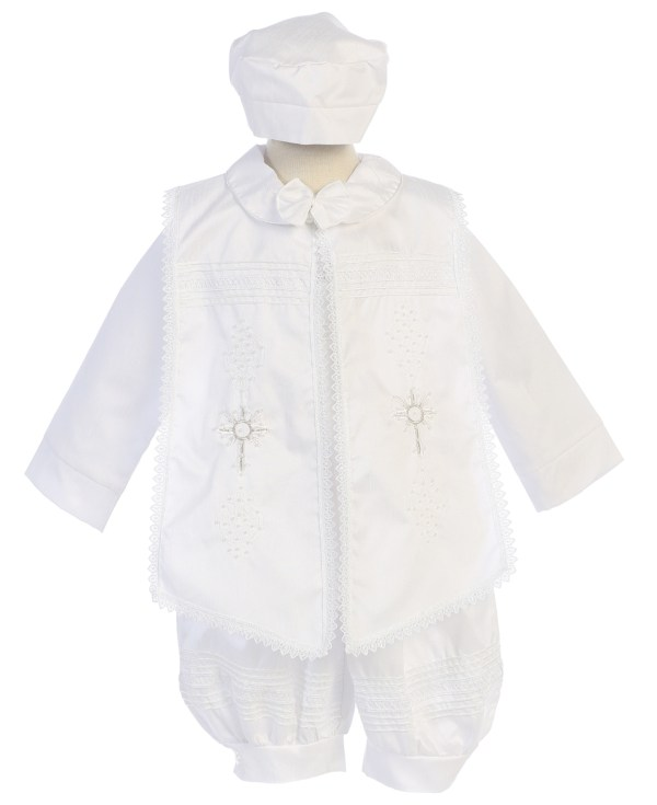 Baptism boys suit in with