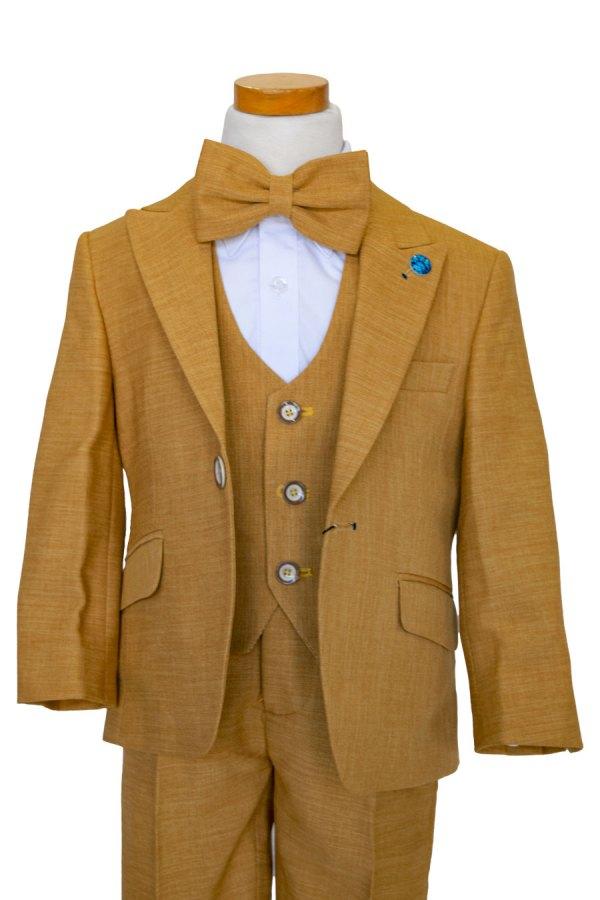 Boy's Mustard yellow designer suit, 4 piece set