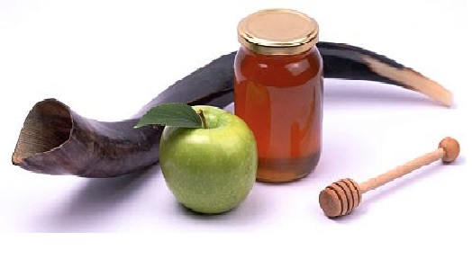 rosj hasjana een zoet nieuwjaar: appel met honing en sjofar