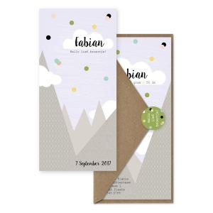 geboortekaartje met bergen set