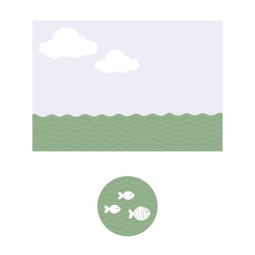 Bij Bis collectie preview speels geboortekaartje met een walvis - sluitzegel en adressticker