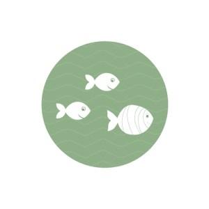 Bij Bis collectie preview speels geboortekaartje met een walvis - sluitzegel
