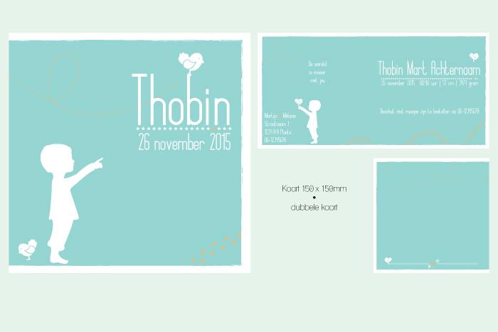 geboortekaartje Thobin