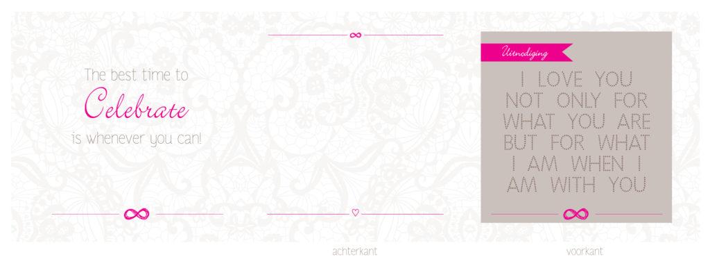 mijn trouwkaart voorkant