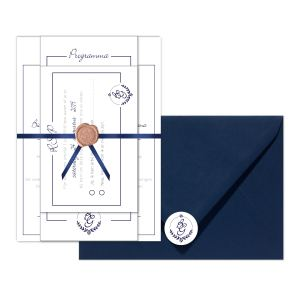 trouwkaart monogram klassiek set