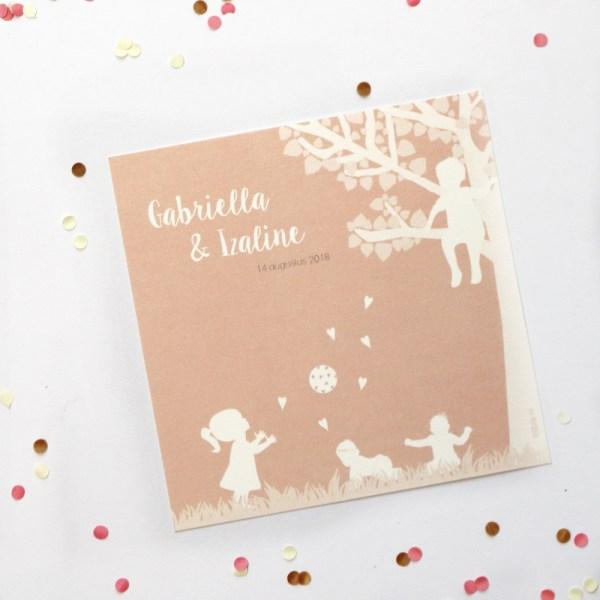 persoonlijk geboortekaartje of bijzondere trouwkaart geboortekaartje tweeling
