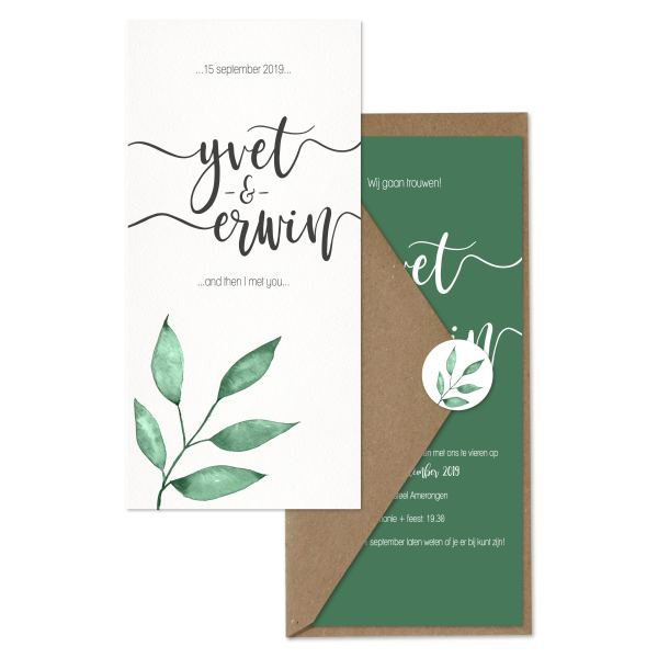 trouwkaart watercolor branch set