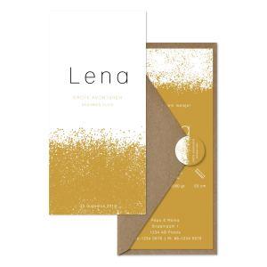 geboortekaartje Lena oker set