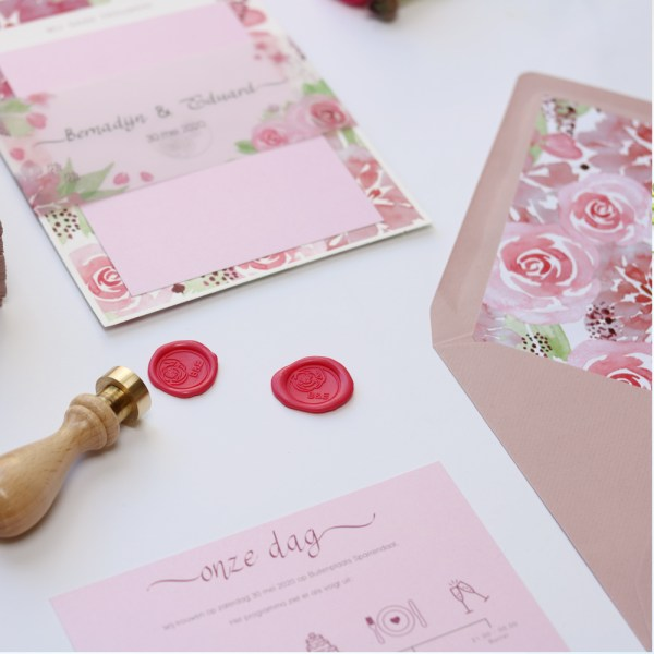 trouw stationary set la vie en rose