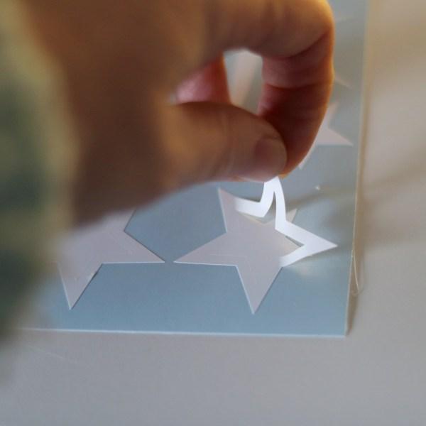 Sterren mix stickers voorbeeld dubbele stickers