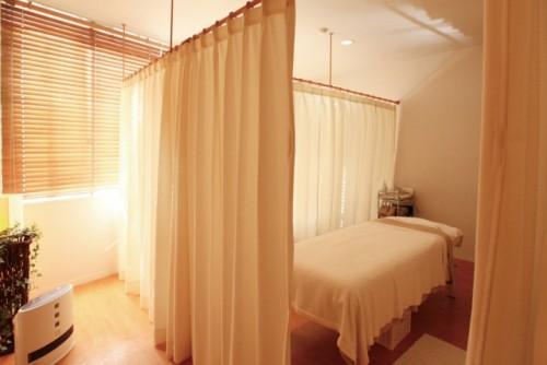 美容サロンの施術室
