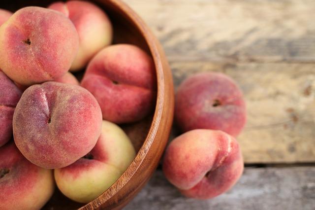 フルーツ、桃