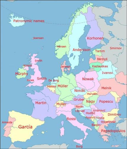 Carte des noms de famille les plus communs en Europe par pays.jpg