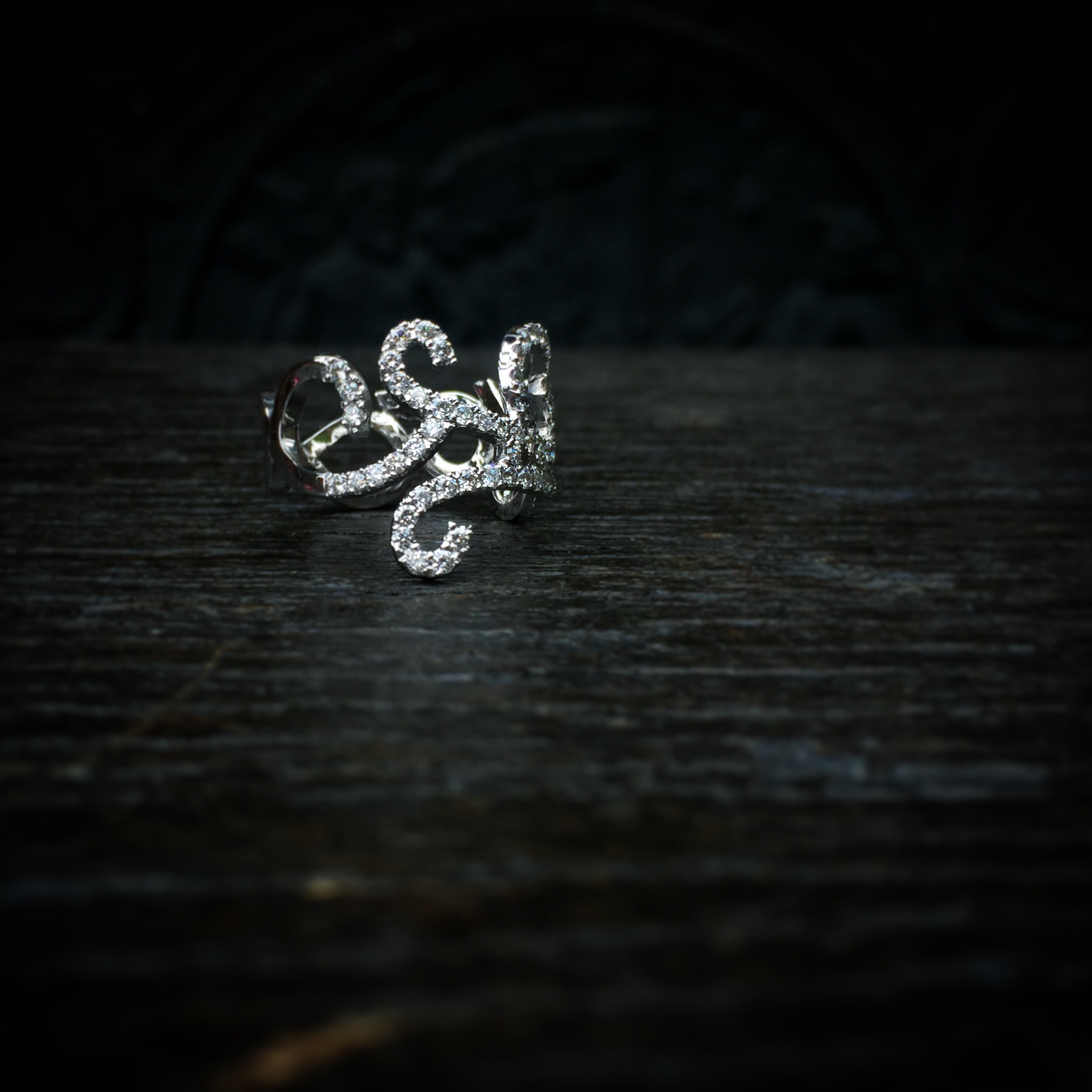 Bague Volutes Diamants Arthabilis