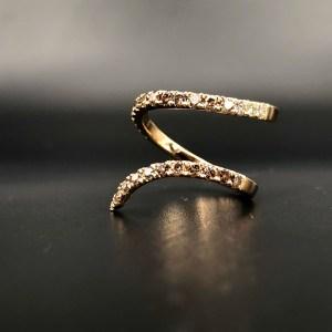 Bague Ruban Arthabilis Diamants Bruns
