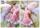 bijou de sac romantique rose et plume lacaudry creation