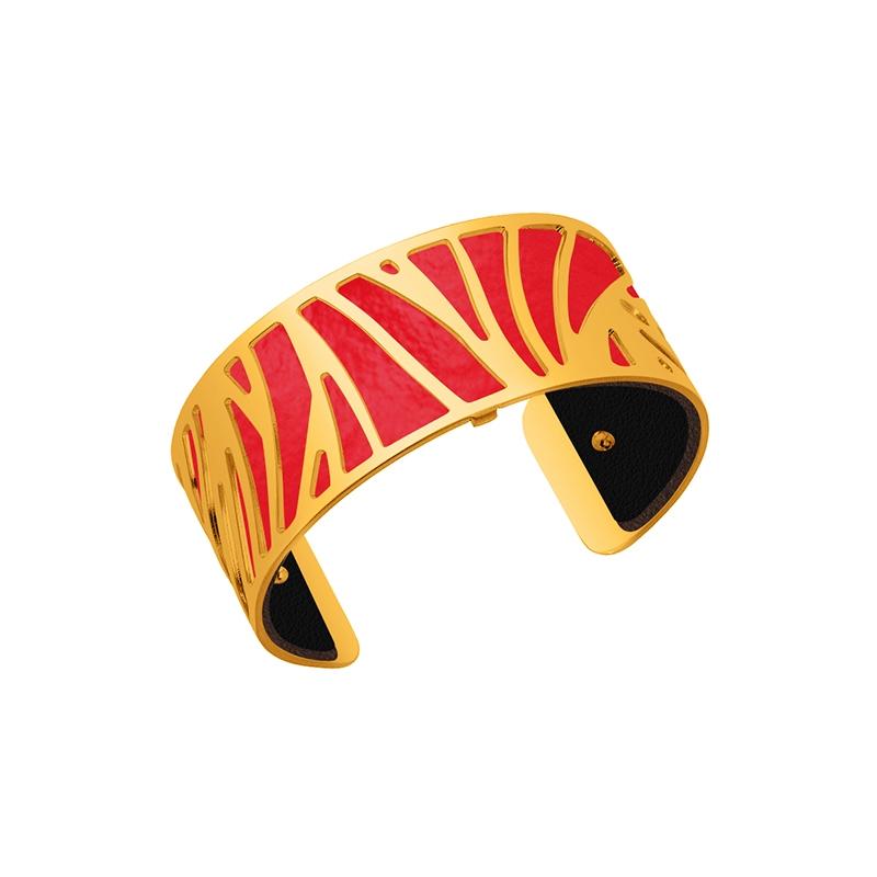 cuir pour bracelet 25 mm les georgettes rouge verni noir 702755199ao000