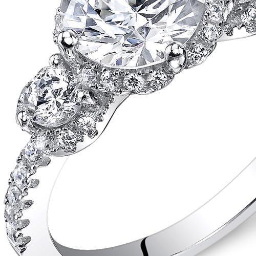 c65fd85feb4 Revoni – Bague de fiançailles Femme – Argent 925 1000 – Diamant de culture