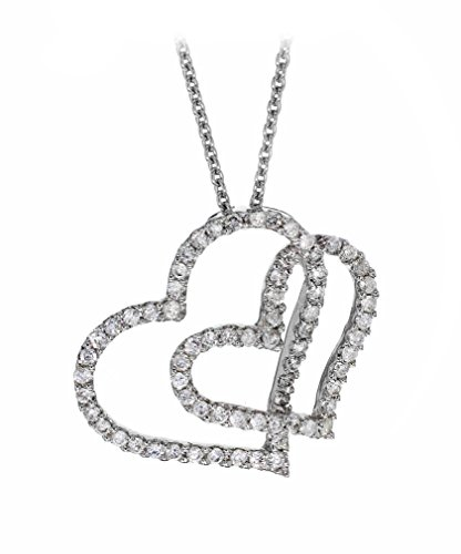 Collier-0171583-Femme-Coeur-Or-Blanc-7501000-18-Cts-37-Gr-Diamant-0