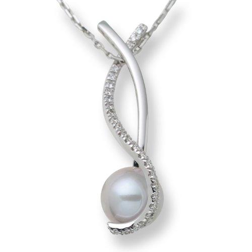 Miore-M0842B-Collier-Femme-Or-Blanc7501000-18-carats-Perle-et-diamant-0