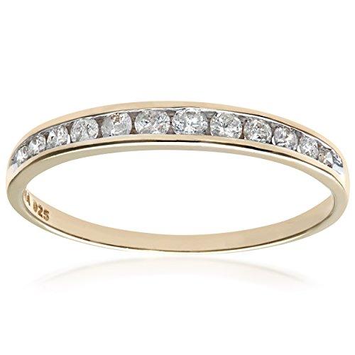Bague-Femme-Or-Jaune-3751000-9-Cts-105-Gr-Diamant-002-Cts-T-53-0