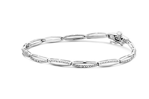 Miore - SA965B - Bracelet Femme - Or Blanc 9 Cts 375/1000 5.22 Gr - Diamant