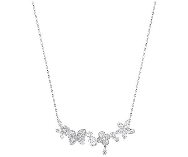 Swarovski Eden Collier Blanc Plaqué rhodium Inspirée des fleurs et des papillons