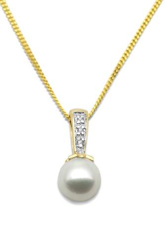 Miore-MT051N-Collier-Femme-Or-Jaune-3751000-9-carats-15-Gr-Perle-deau-douce-Diamant-001-cts-0